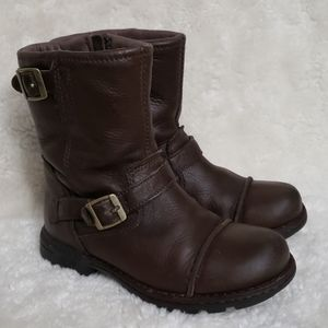 UGG kids biker leather boot